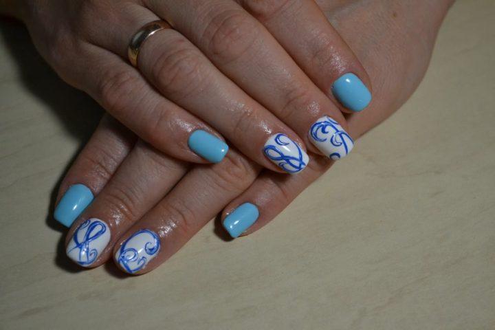 голубой дизайн ногтей фото - Тюменский издательский дом