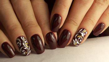 Шикарные ногти с коричневым маникюром (51 фото)